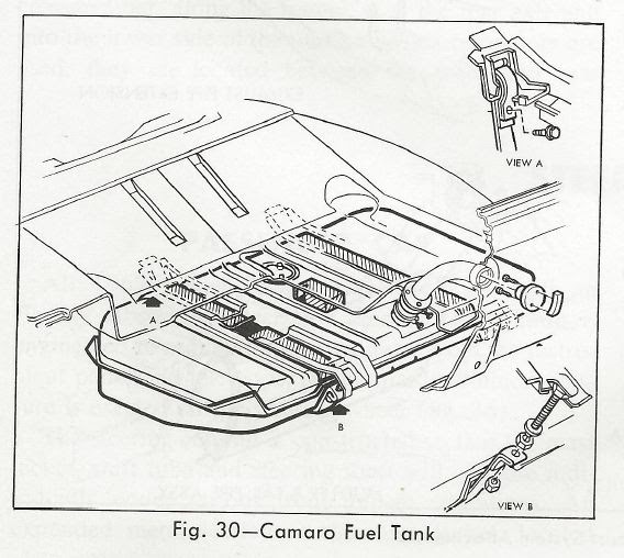 Steve's Camaro Parts: Steve's Camaro Parts  1967 Camaro Fuel Tank Information and Diagrams