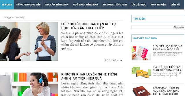 Theme Blogspot đơn giản chuẩn seo 1
