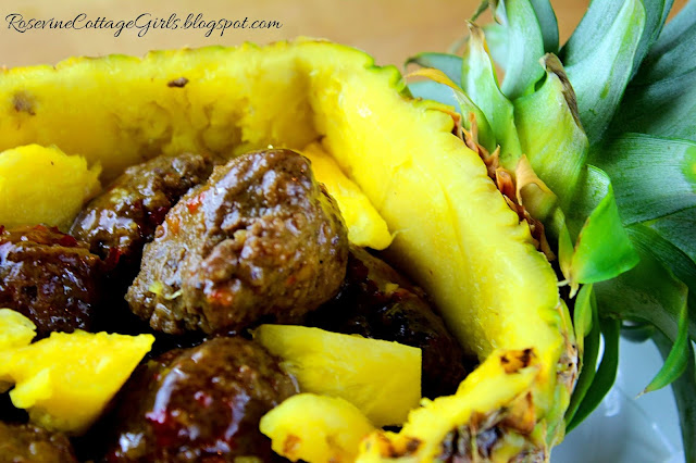 #Meatballs #SweetChili #Rice #Pineapple #recipe #food #beefbowl #Hawaiian