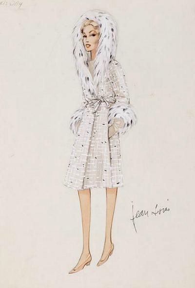 Jean Louis Sketch for Doris Day in 1959's Pillow Talk