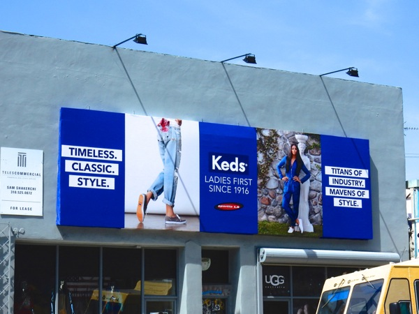 Keds Titans of industry Mavens of style billboard