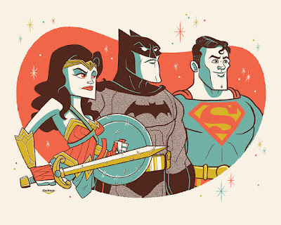 Justice League Screen Print by Ian Glaubinger