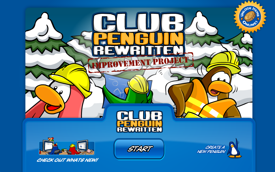 Club Penguin Rewritten News: Club Penguin Rewritten Improvement Project: Out Now!