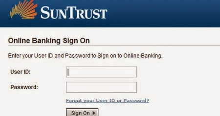 Suntrust Online Banking Sign In Page