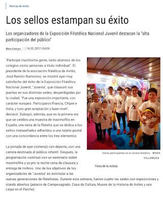 Noticia sobre Juvenia y Maxiespaña 2017