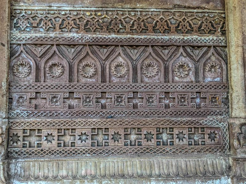 Beautiful carving at Purani Kutchery entrance