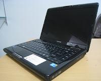 jual laptop gaming toshiba l510 black glossy