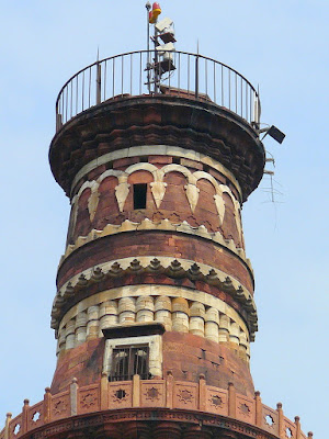 Detail of the top storey of the Minar