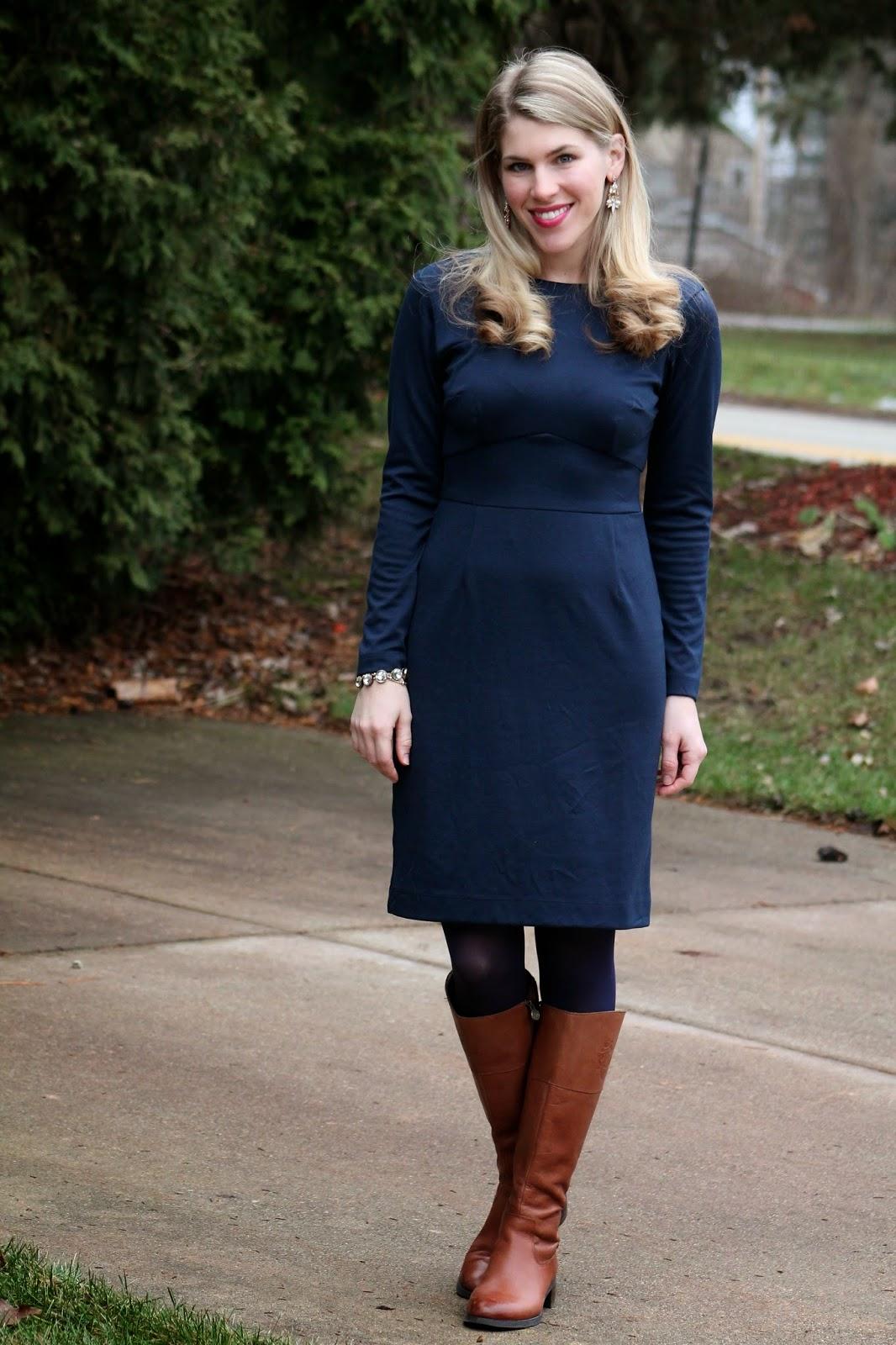 I do deClaire: Confident Twosday: Navy Dress