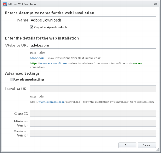 Using AppSense Application Manager User Rights Management and Web