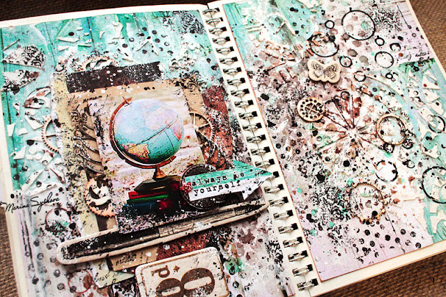 [ Art-book. School memories ] @marinasyskova #mixedmedia #scrapbooking #artbook #artjournal