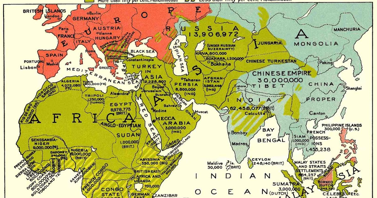 Online Maps The Muslim World Old Map