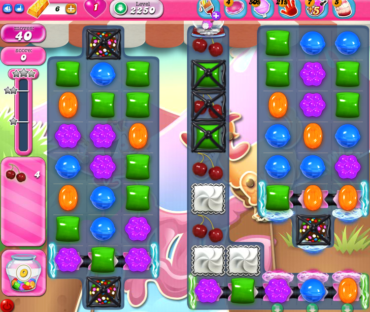 Candy Crush Saga level 2250