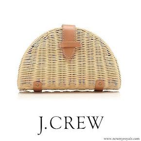 Meghan Markle carried J.CREW Fan rattan clutch