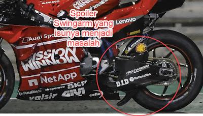 Kontroversi Spoiler Swingarm Ducati