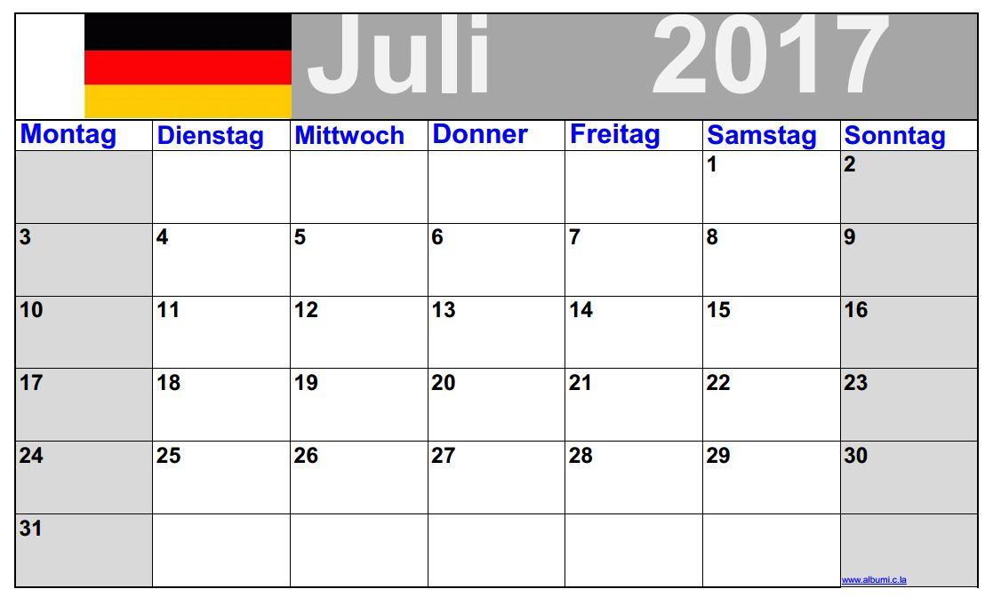 July 2017 printable calendar.  printables blank calendars for July 2017  a calendar for july 2017 calendar july 2017 printable the 2017 july calendar the calendar for july 2017