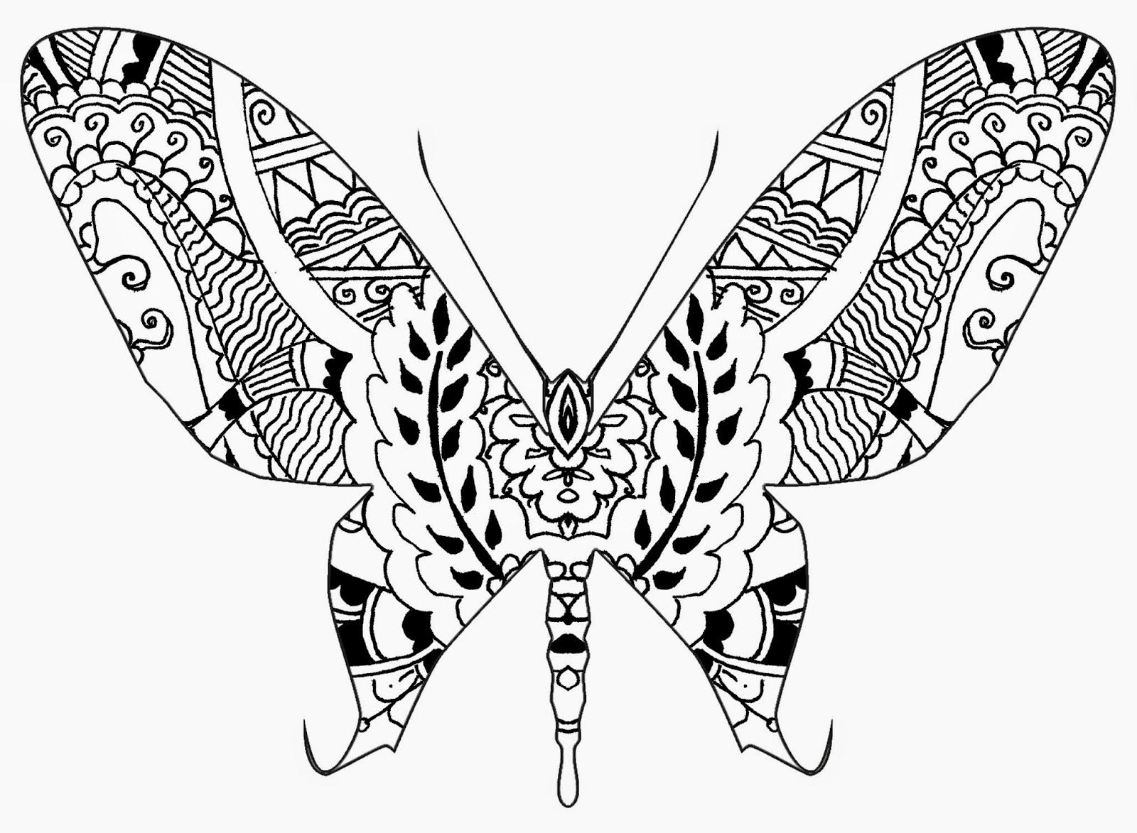 Brendan Burns Art: Henna and Zentangle Inspired Butterflies 8