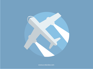 Flat icon of aircraft 01