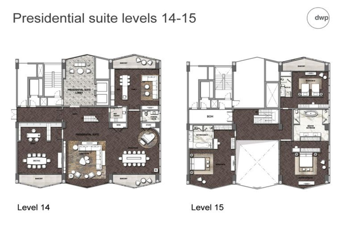 Mặt bằng căn hộ Condotel 15 tầng dự án FLC Sầm Sơn
