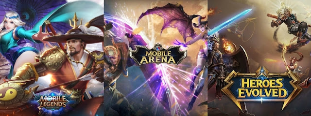 Heroes Evolved VS Mobile Arena VS Mobile Legends, Mana Yang Terbaik