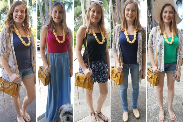 how to wear a yellow bag: 5 outfit ideas with yellow accessories | awayFromBlue