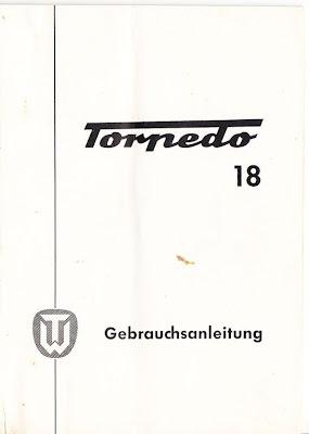 maschinengeschrieben: Gebrauchsanleitung: Torpedo 18