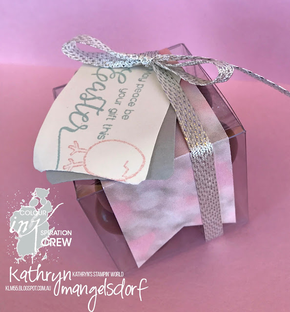Stampin' Up! Suite Sentiments, Hey Chick, Clear Tiny Treat Boxes, Easter Gift, Easter Eggs designed by Kathryn Mangelsdorf