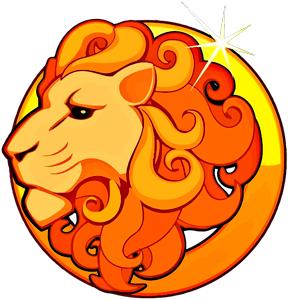 Imagen de un León de color dorado y viendo hacia la derecha que representa al signo zodiacal Leo