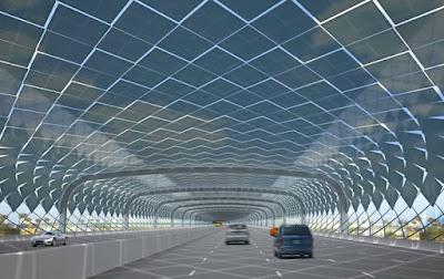 Cobertes solars per autopistes