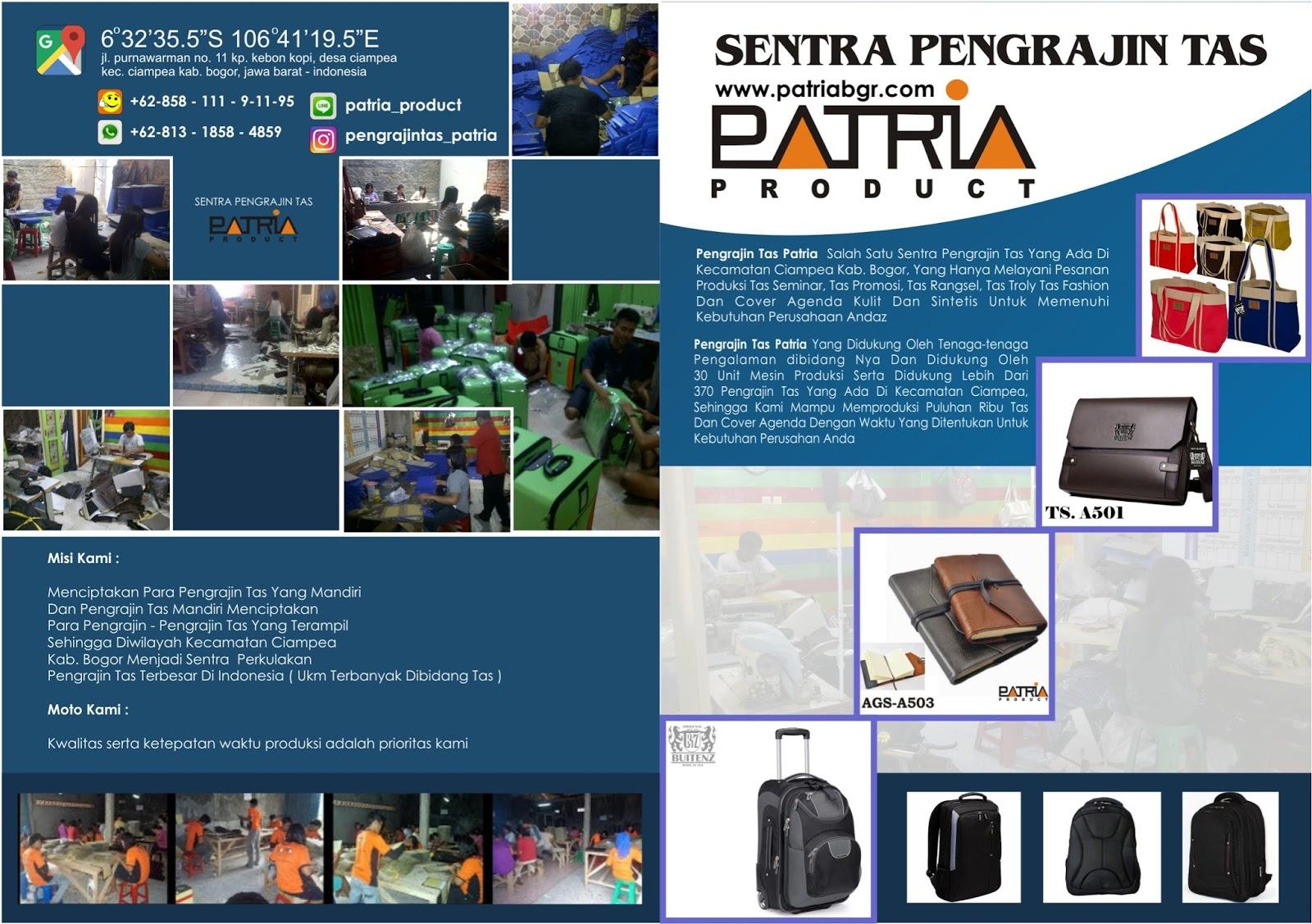 Konveksi TAS PATRIA salah satu pengrajin tas Rumahan atau Home Industri  Kecil dari 8b5971b123