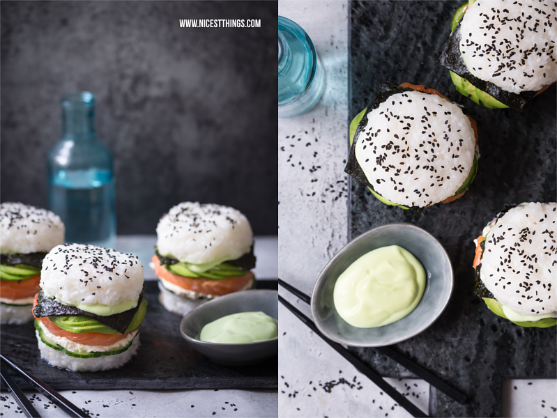 sushi burger ein glutenfreies rezept mit avocado und lachs nicest things. Black Bedroom Furniture Sets. Home Design Ideas