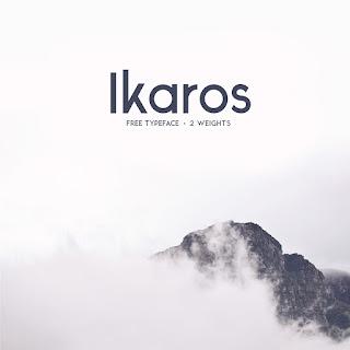 Ikaros free Font Terbaik Untuk Desain Pakaian Distro