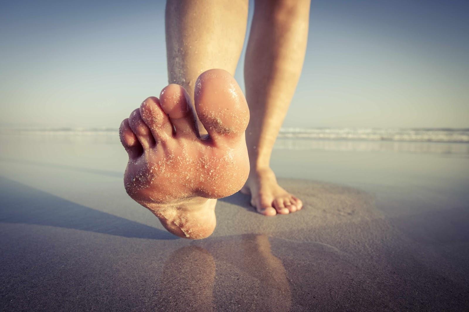 Image Gallery walking barefoot