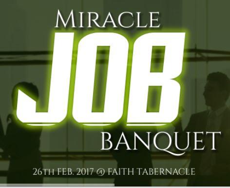 """Miracle Job Banquet Service"" with Bishop David Oyedepo"