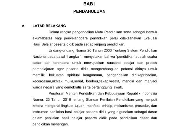 Pedoman dan Juknis Penilaian Akhir Semester SD Pedoman dan Juknis Penilaian Akhir Semester SD/MI Kurikulum 2013