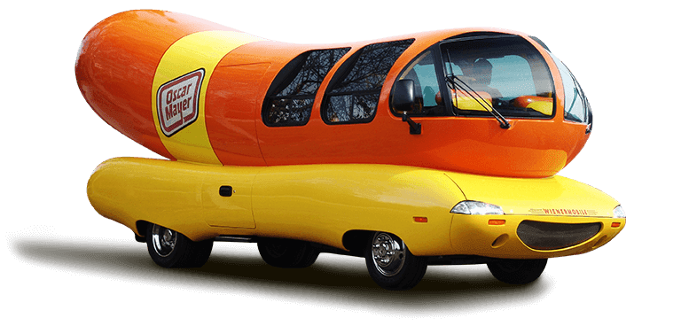 History Of American Food Trucks besides Vintage Oscar Mayer Wienermobile Bank furthermore Oscar Meyer Weinermobile Carhard together with Oscar Mayer Wienermobile 1952 additionally Hot Diggity Dog Crystal Lake Man Hauling Buns Wienermobile Driver. on e oscar mayer wienermobile