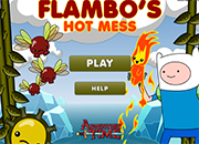 juegos adventure time flambos hot mess
