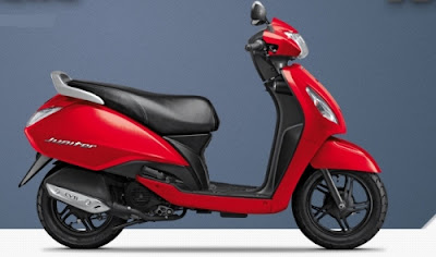 TVS Jupiter Red scooter 110cc