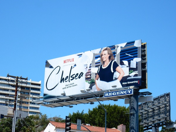 Chelsea Netflix talk show launch billboard