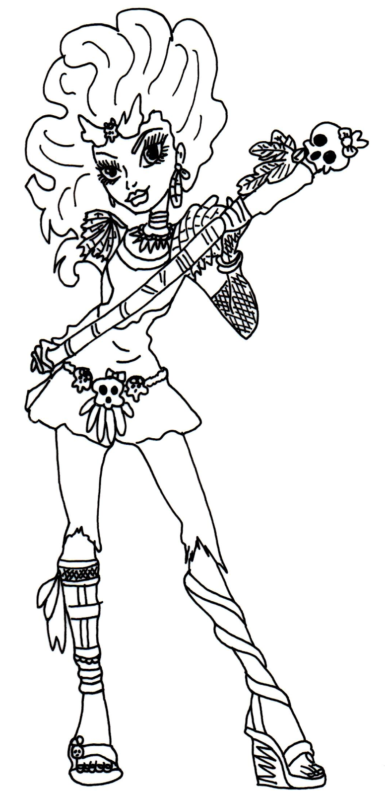 new monster high dolls 2014 coloring pages: Jane Boolittle