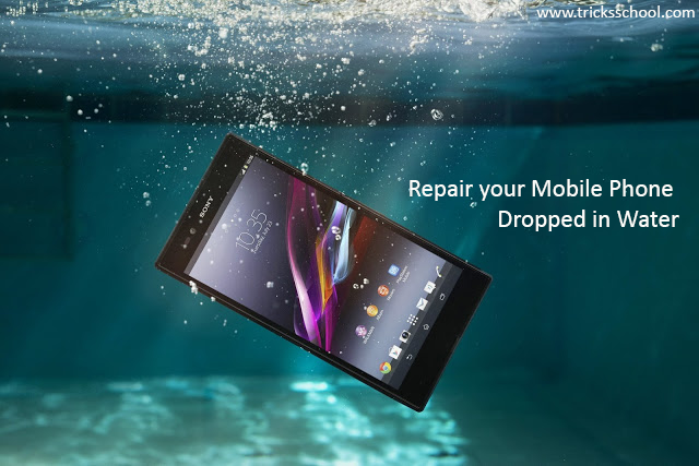 repair mobile phone drop in water