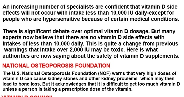 vitamin d3 side effects | TOP GOAL