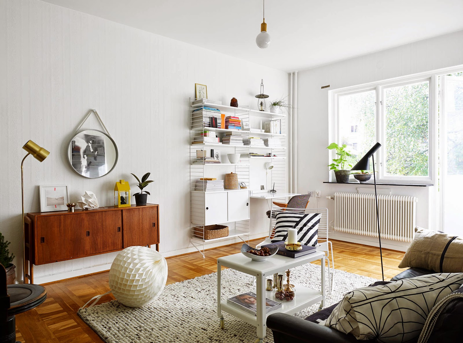 my scandinavian home a swedish apartment with a mid century touch. Black Bedroom Furniture Sets. Home Design Ideas