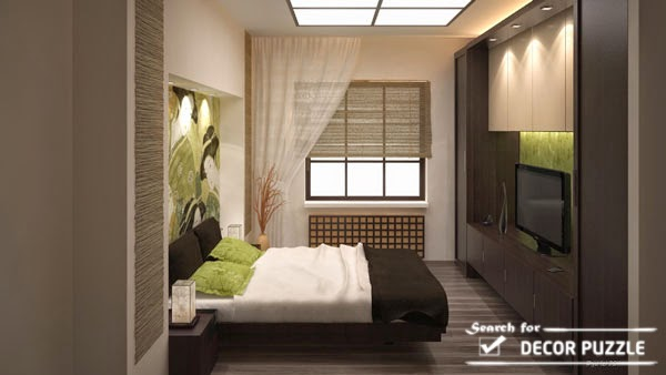 Japanese bedroom design for small bedrooms - lighting ideas