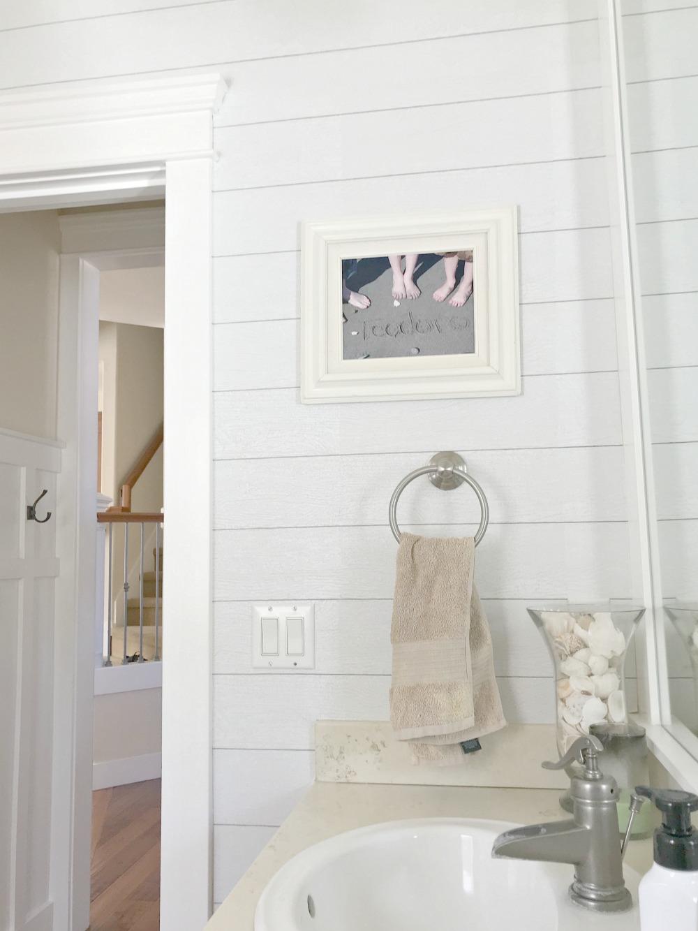 Shiplap Wallpaper Bathroom