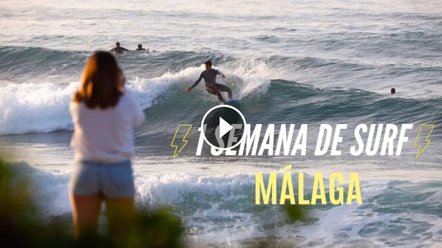 1 SEMANA de OLAS en Málaga Surf Mediterráneo