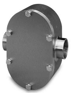 positive displacement liquid flow meter for industrial process measurement