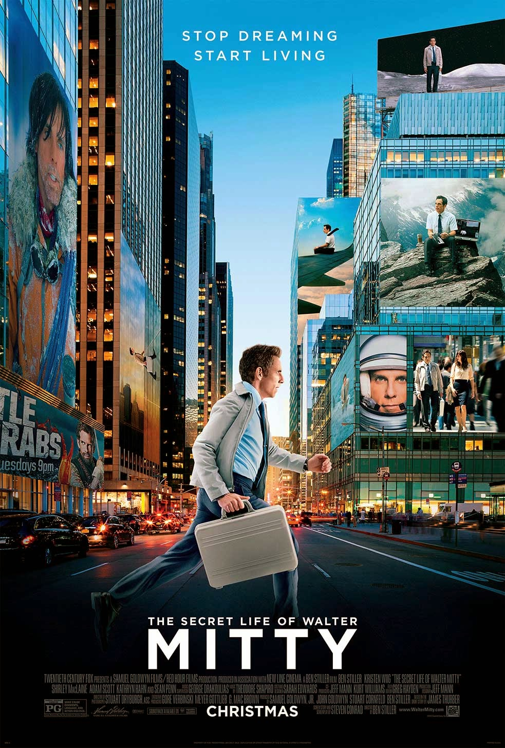 L'affiche originale The Secret Life Of Walter Mitty