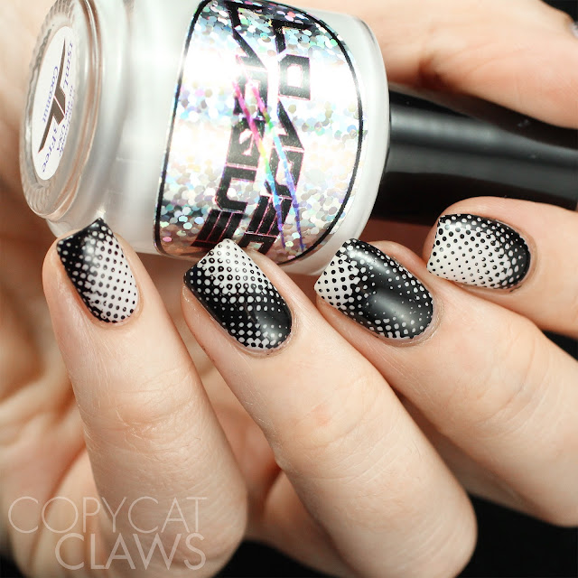 Black & White Nail Stamping