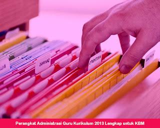 Perangkat Administrasi Guru Kurikulum 2013 Lengkap untuk KBM